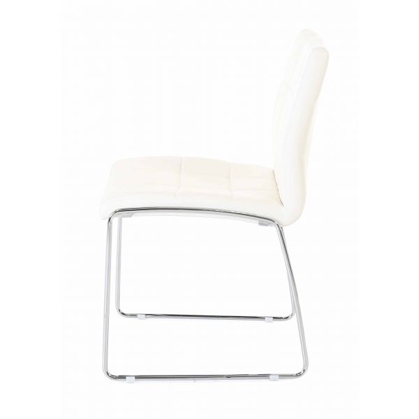 Chaise similicuir blanc Anabelle