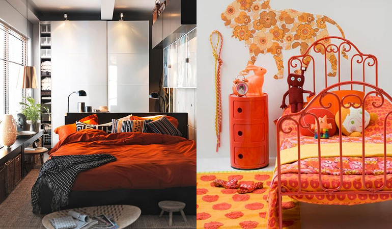 la touche orange en d coration mooviin. Black Bedroom Furniture Sets. Home Design Ideas